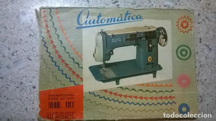 Manual instrucciones, maquina coser alfa, alfam - Vendido