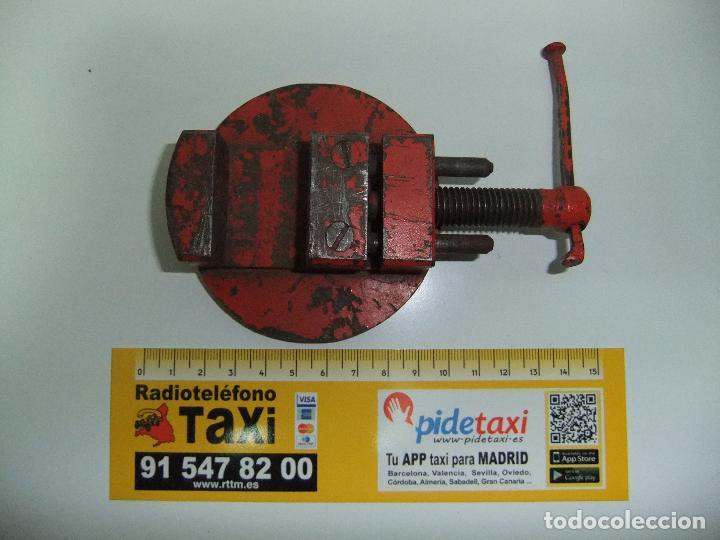 Antigüedades: pequeño tornillo de banco,relojero. - Foto 2 - 71018249