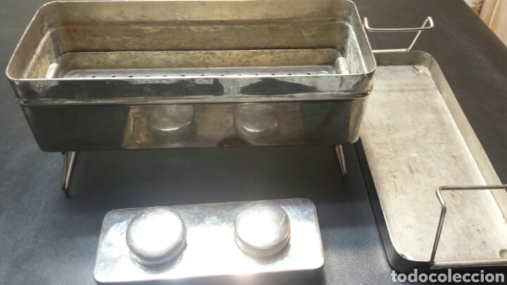 Antigüedades: Recipiente para esterilización con quemadores completo - Foto 2 - 71067315
