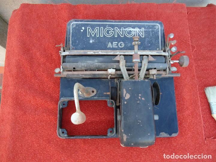 MAQUINA DE ESCRIBIR AEG MIGNON (Antigüedades - Técnicas - Máquinas de Escribir Antiguas - Mignon)