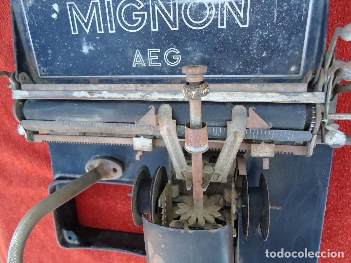 Antigüedades: MAQUINA DE ESCRIBIR AEG MIGNON - Foto 2 - 71134121