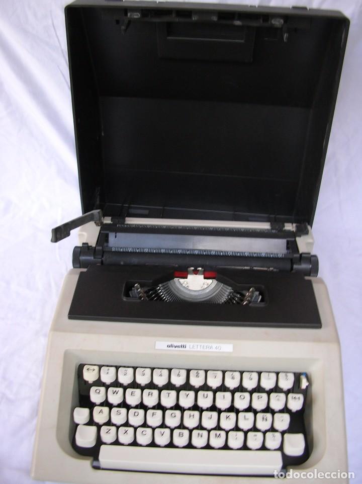 MAQUINA DE ESCRIBIR. VINTAGE . OLIVETTI LETTERA. CON CAJA. COMPLETA. SE HACE FACTURA .FUNCIONANDO . (Antigüedades - Técnicas - Máquinas de Escribir Antiguas - Olivetti)