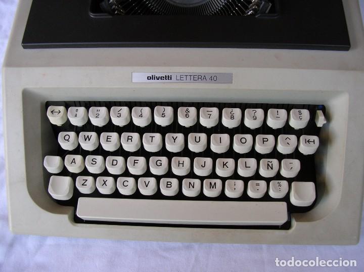 Antigüedades: maquina de escribir. vintage . olivetti lettera. con caja. completa. Se hace Factura .funcionando . - Foto 2 - 71168149