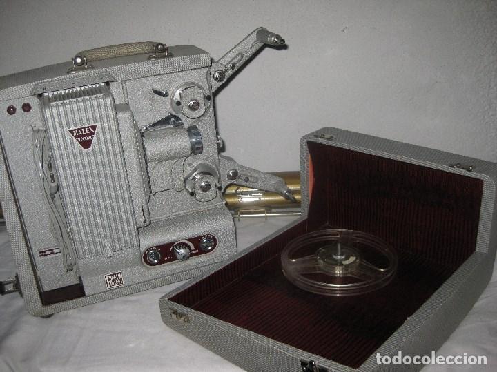 ANTIGUO PROYECTOR RECORD, MALEX, ERCSAM. 8MM. AÑOS 50 (Antigüedades - Técnicas - Aparatos de Cine Antiguo - Proyectores Antiguos)