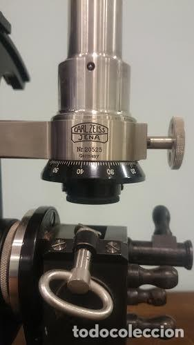 Antigüedades: Refractómetro Abbe fabricado por Carl Zeiss, Jena, Alemania (Con caja e instrumental) - Foto 5 - 69996701