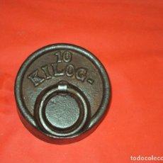 Antigüedades: PESA DE 10 KG. Lote 71427899