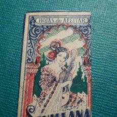 Antigüedades: HOJA DE AFEITAR DE COLECCIÓN - CUCHILLA - BLADE - HOJA - LAME - SEVILLANA - PRECIO 0,25 PTAS. ROJA. Lote 71528059