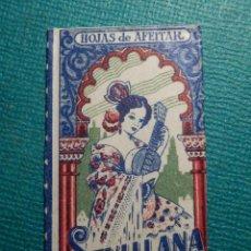 Antigüedades: HOJA DE AFEITAR DE COLECCIÓN - CUCHILLA - BLADE - HOJA - LAME - SEVILLANA ACANALADA - FILIGRANA ROJA. Lote 71528335