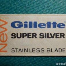 Antigüedades: HOJA DE AFEITAR DE COLECCIÓN - CUCHILLA - BLADE - HOJA - LAME - GILLETTE SUPER SILVER - STAINLESS. Lote 71532455