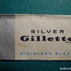 Antigüedades: HOJA DE AFEITAR DE COLECCIÓN - CUCHILLA - BLADE - HOJA - LAME - GILLETTE SILVER - STAINLESS . Lote 71532579