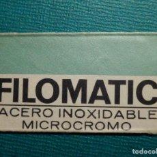Antigüedades: HOJA DE AFEITAR DE COLECCIÓN - CUCHILLA - BLADE - LAME - FILOMATIC ACERO INOXIDABLE MICROCROMO. Lote 71535427
