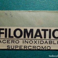Antigüedades: HOJA DE AFEITAR DE COLECCIÓN - CUCHILLA - BLADE - LAME - FILOMATIC ACERO INOXIDABLE SUPERCROMO. Lote 71535927