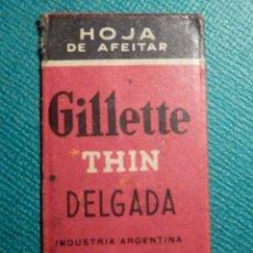 Antigüedades: HOJA DE AFEITAR DE COLECCIÓN - CUCHILLA - BLADE - LAME - THIN GILLETTE DELGADA - INDUSTRIA ARGENTINA. Lote 71536619