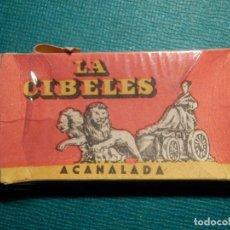 Antigüedades: HOJA DE AFEITAR DE COLECCIÓN - CUCHILLA - BLADE - LAME - CAJA VACÍA - LA CIBELES ACANALA - CON TASA. Lote 71540211
