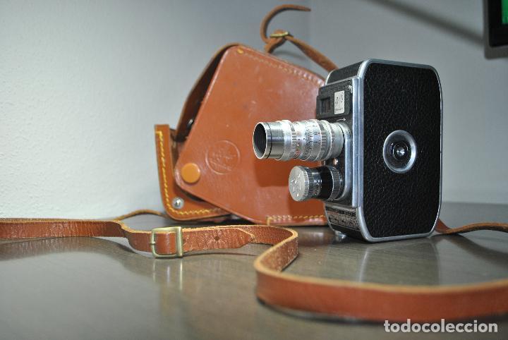 CAMARA DE CINE O TOMAVISTA PALLARD BOLEX B8 + FUNDA (Antigüedades - Técnicas - Aparatos de Cine Antiguo - Cámaras de Super 8 mm Antiguas)