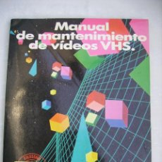 Antigüedades: MANUAL MANTENIMIENTO VIDEO SANYO VHS, VHR 1500. Lote 71856599