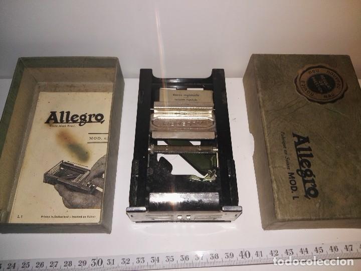 AFILADOR DE HOJAS DE AFEITAR ALLEGRO. REF-1046 (Antigüedades - Técnicas - Barbería - Varios Barbería Antiguas)