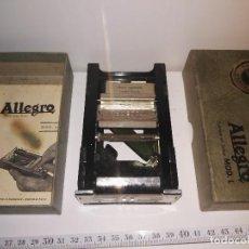 Antigüedades: AFILADOR DE HOJAS DE AFEITAR ALLEGRO. REF-1046. Lote 71950759