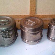 Antigüedades: 3 ANTIGUOS BOTES DE GASAS DE MEDICO O ENFERMERA. Lote 72059867