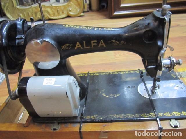 Antigüedades: Antigua máquina de coser Alfa. - Foto 6 - 72117411