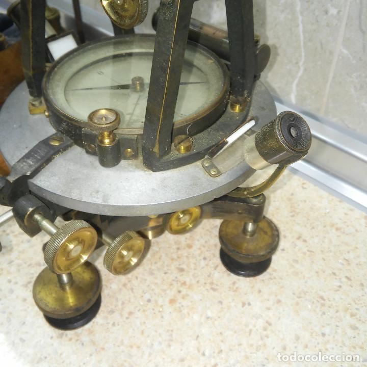 Antigüedades: TEODOLITO DE BRONCE , TOPOGRAFO SUIZO AARAU DE KERN & CO. EN SU CAJON DE MADERA ORIGINAL * IMPECABLE - Foto 8 - 72261887