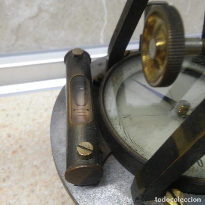Antigüedades: TEODOLITO DE BRONCE , TOPOGRAFO SUIZO AARAU DE KERN & CO. EN SU CAJON DE MADERA ORIGINAL * IMPECABLE - Foto 24 - 72261887