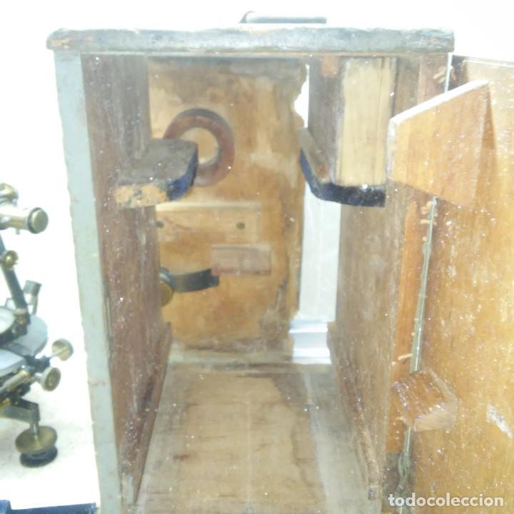 Antigüedades: TEODOLITO DE BRONCE , TOPOGRAFO SUIZO AARAU DE KERN & CO. EN SU CAJON DE MADERA ORIGINAL * IMPECABLE - Foto 32 - 72261887