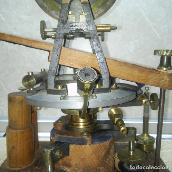Antigüedades: TEODOLITO DE BRONCE , TOPOGRAFO SUIZO AARAU DE KERN & CO. EN SU CAJON DE MADERA ORIGINAL * IMPECABLE - Foto 36 - 72261887