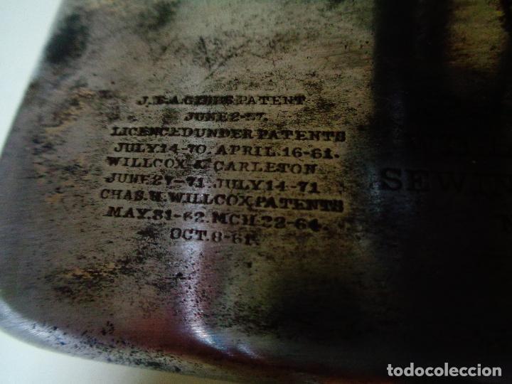 Antiquitäten: antiquísima Maquina coser americana Willcox Gibbs - Foto 5 - 142257201