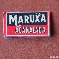Antigüedades: HOJA DE AFEITAR MARUXA ACANALADA - ZALDIVAR - MÁLAGA. Lote 99310798