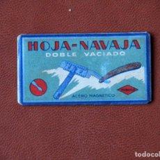 Antigüedades: HOJA DE AFEITAR HOJA-NAVAJA DOBLE MARAVILLA ELEGEN. Lote 72409815
