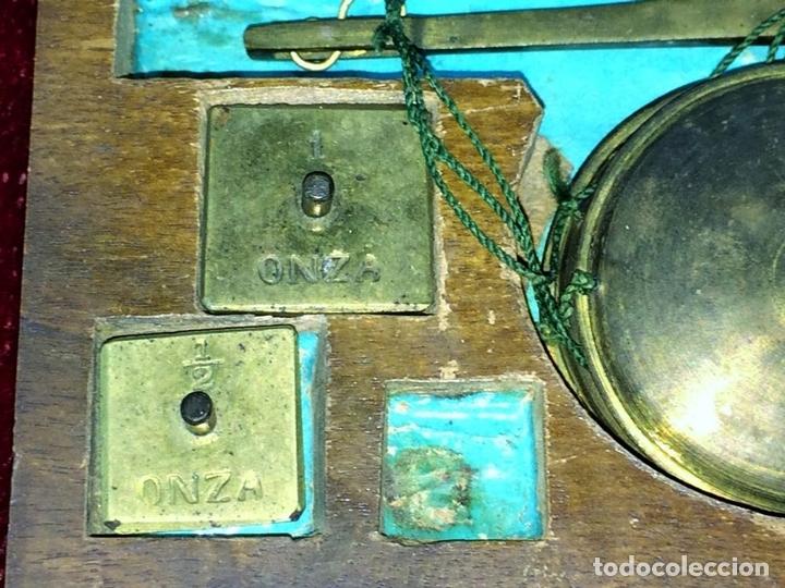 Antigüedades: BALANZA PARA ORO. BRONCE. MADERA. ESPAÑA. XIX - Foto 3 - 73018219