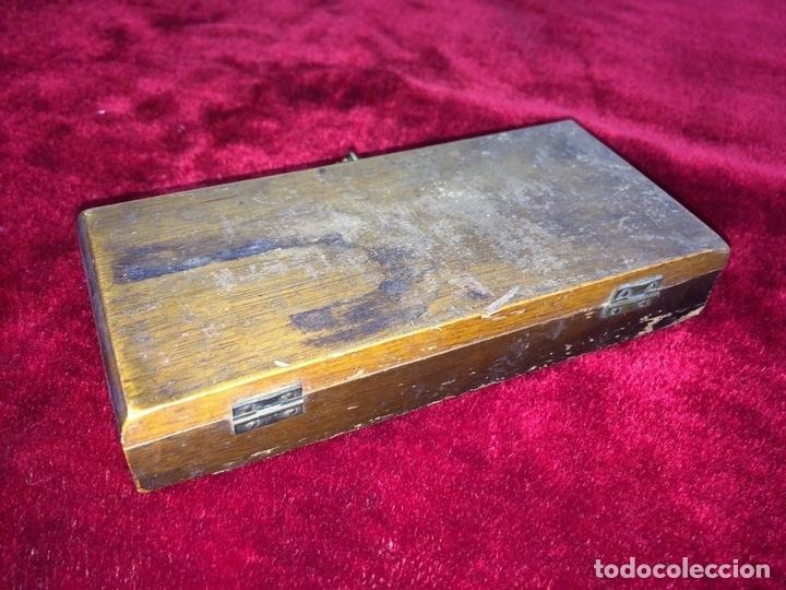 Antigüedades: BALANZA PARA ORO. BRONCE. MADERA. ESPAÑA. XIX - Foto 8 - 73018219