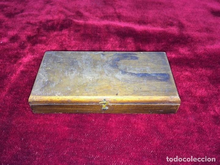 Antigüedades: BALANZA PARA ORO. BRONCE. MADERA. ESPAÑA. XIX - Foto 10 - 73018219