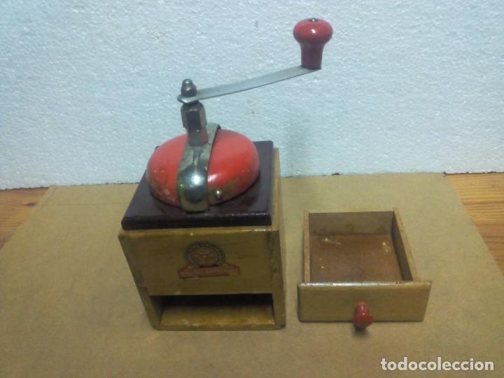 """Antigüedades: Molinillo antiguo de café de manivela marca """"Feinmahlendes Stahlmahlwerk"""" - Foto 2 - 73032695"""