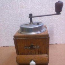 """Antigüedades: MOLINILLO ANTIGUO DE CAFÉ DE MANIVELA MARCA """"ROCK HARD"""". Lote 73035627"""