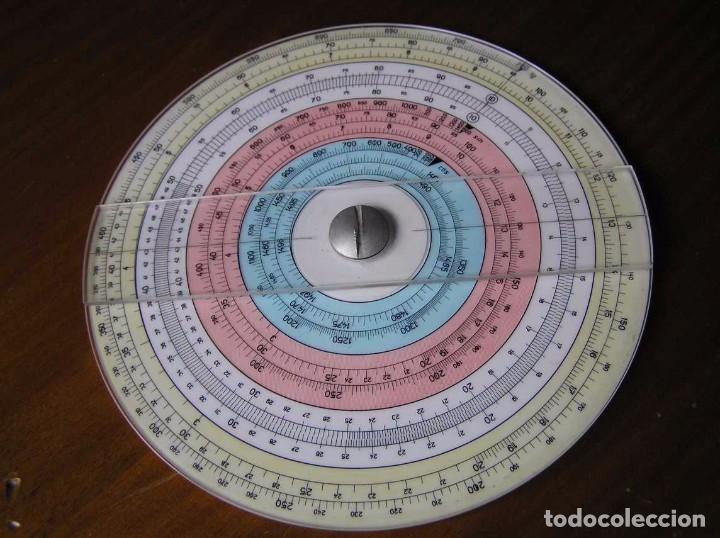 Antigüedades: REGLA DE CALCULO CIRCULAR FUNDA INSTRUCCIONES logaritmického po?ítadla 1 SLIDE RULE RECHENSCHIEBER - Foto 2 - 73081783