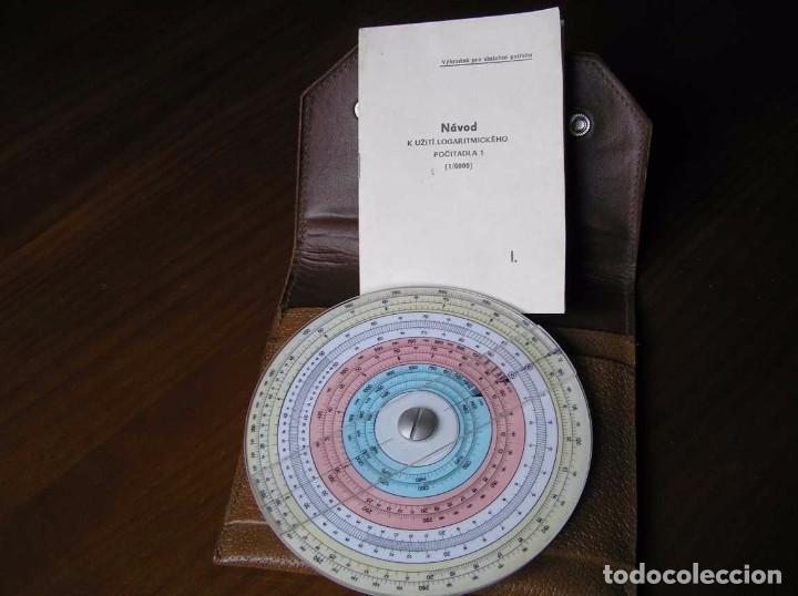 Antigüedades: REGLA DE CALCULO CIRCULAR FUNDA INSTRUCCIONES logaritmického po?ítadla 1 SLIDE RULE RECHENSCHIEBER - Foto 4 - 73081783