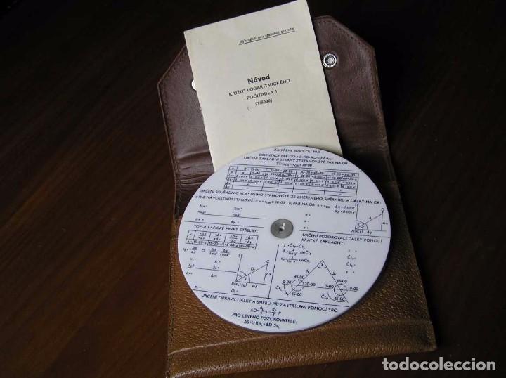 Antigüedades: REGLA DE CALCULO CIRCULAR FUNDA INSTRUCCIONES logaritmického po?ítadla 1 SLIDE RULE RECHENSCHIEBER - Foto 5 - 73081783