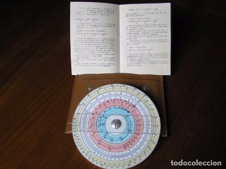 Antigüedades: REGLA DE CALCULO CIRCULAR FUNDA INSTRUCCIONES logaritmického po?ítadla 1 SLIDE RULE RECHENSCHIEBER - Foto 6 - 73081783