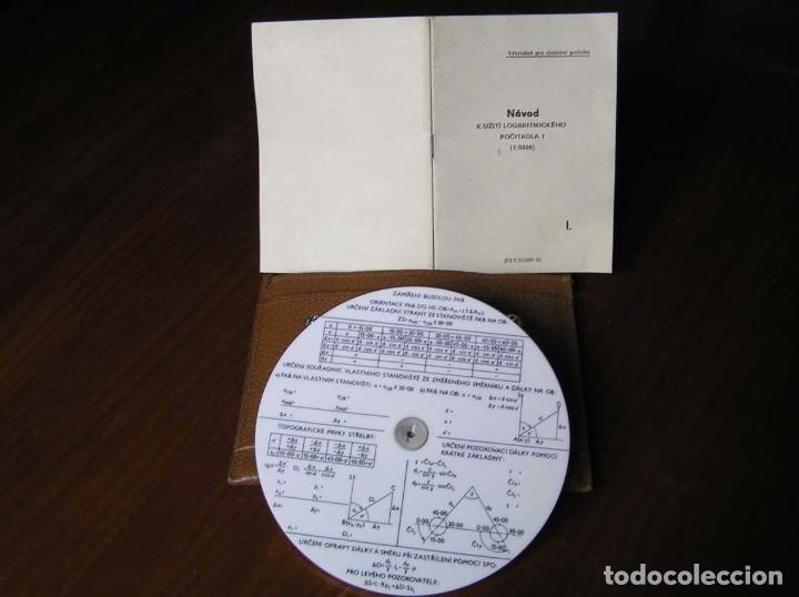 Antigüedades: REGLA DE CALCULO CIRCULAR FUNDA INSTRUCCIONES logaritmického po?ítadla 1 SLIDE RULE RECHENSCHIEBER - Foto 7 - 73081783