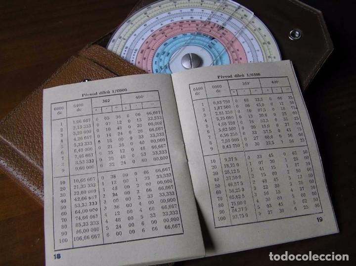 Antigüedades: REGLA DE CALCULO CIRCULAR FUNDA INSTRUCCIONES logaritmického po?ítadla 1 SLIDE RULE RECHENSCHIEBER - Foto 14 - 73081783