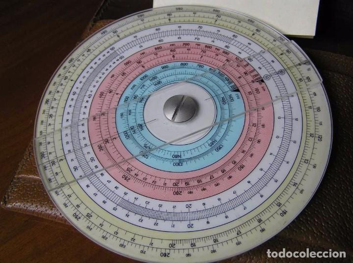 Antigüedades: REGLA DE CALCULO CIRCULAR FUNDA INSTRUCCIONES logaritmického po?ítadla 1 SLIDE RULE RECHENSCHIEBER - Foto 16 - 73081783