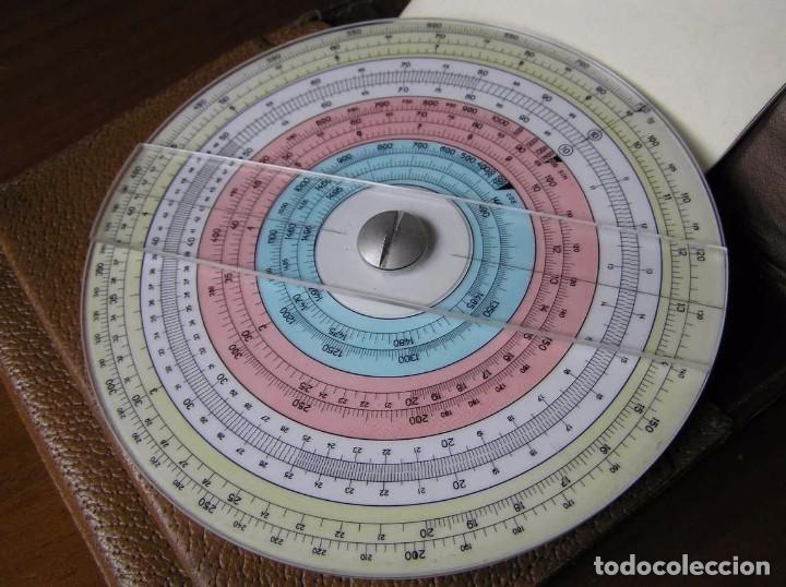 Antigüedades: REGLA DE CALCULO CIRCULAR FUNDA INSTRUCCIONES logaritmického po?ítadla 1 SLIDE RULE RECHENSCHIEBER - Foto 21 - 73081783