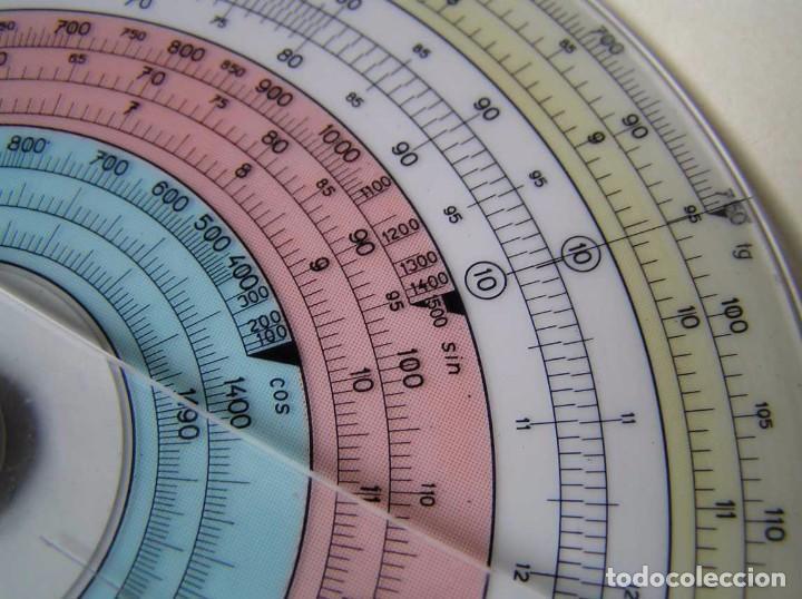 Antigüedades: REGLA DE CALCULO CIRCULAR FUNDA INSTRUCCIONES logaritmického po?ítadla 1 SLIDE RULE RECHENSCHIEBER - Foto 22 - 73081783