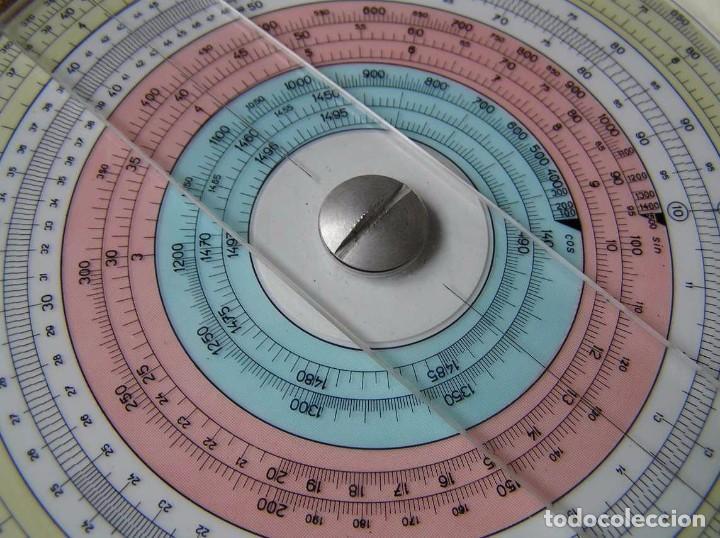 Antigüedades: REGLA DE CALCULO CIRCULAR FUNDA INSTRUCCIONES logaritmického po?ítadla 1 SLIDE RULE RECHENSCHIEBER - Foto 23 - 73081783
