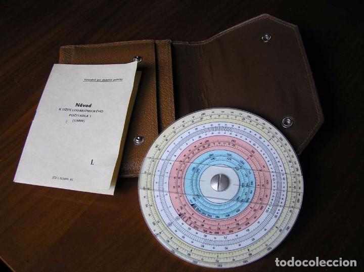 Antigüedades: REGLA DE CALCULO CIRCULAR FUNDA INSTRUCCIONES logaritmického po?ítadla 1 SLIDE RULE RECHENSCHIEBER - Foto 29 - 73081783
