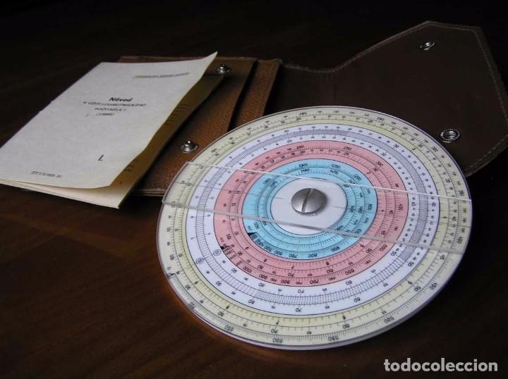 Antigüedades: REGLA DE CALCULO CIRCULAR FUNDA INSTRUCCIONES logaritmického po?ítadla 1 SLIDE RULE RECHENSCHIEBER - Foto 31 - 73081783