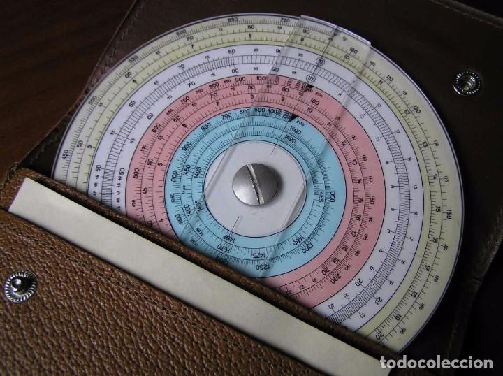 Antigüedades: REGLA DE CALCULO CIRCULAR FUNDA INSTRUCCIONES logaritmického po?ítadla 1 SLIDE RULE RECHENSCHIEBER - Foto 45 - 73081783