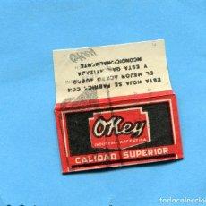 Antiguidades: FUNDA DE HOJA DE AFEITAR ' OKEY '. INDUSTRIA ARGENTINA ( RARA DE VER ) . Lote 73441463